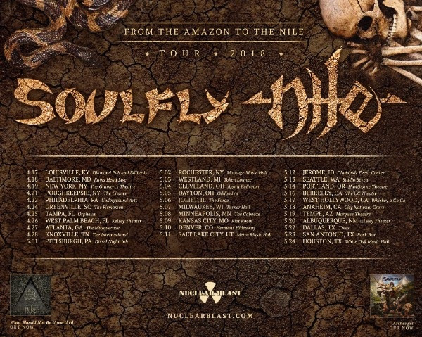 soulfly and nile tour