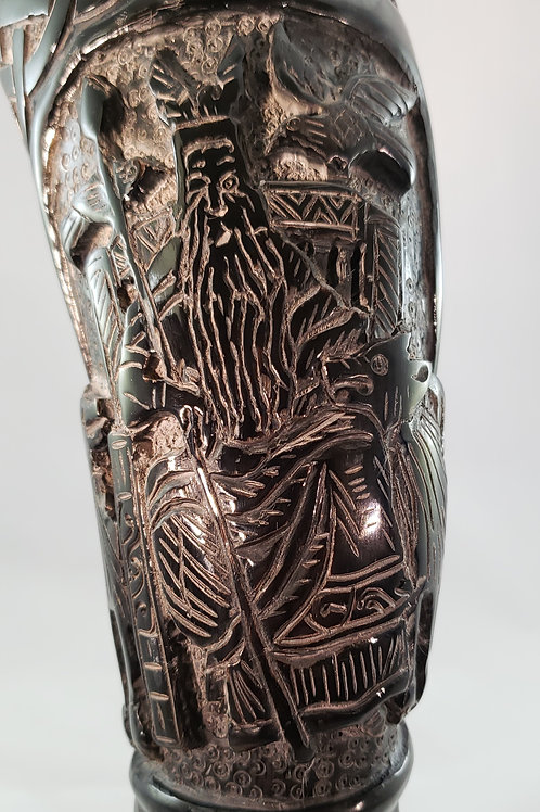 Odin The Allfather's Hand Carved Viking Drinking Horn- 16 ounces