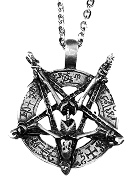Inverted Pentagram Skeleton Necklace