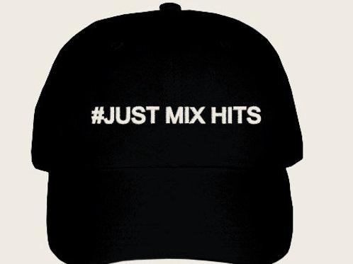 """Cap """"JUST MIX HITS"""" BLACK"""