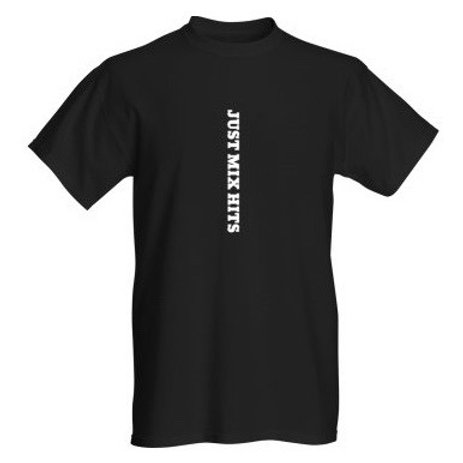 "Tee shirt ""JUST MIX HITS"" BLACK"