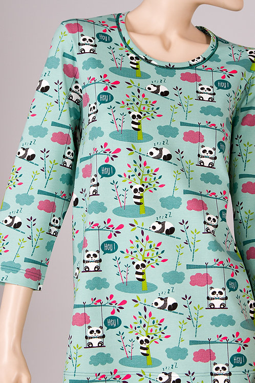 SN4657 - 3/4 Sleeve Long Pajama