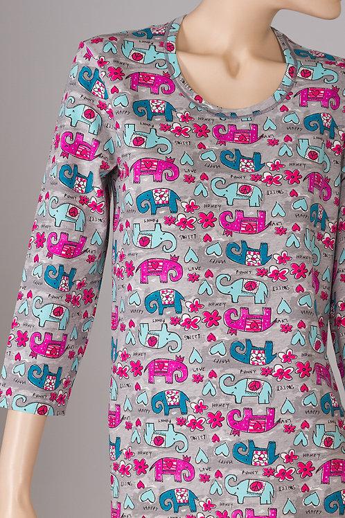 SN4757 - 3/4 Sleeve Long Pajama