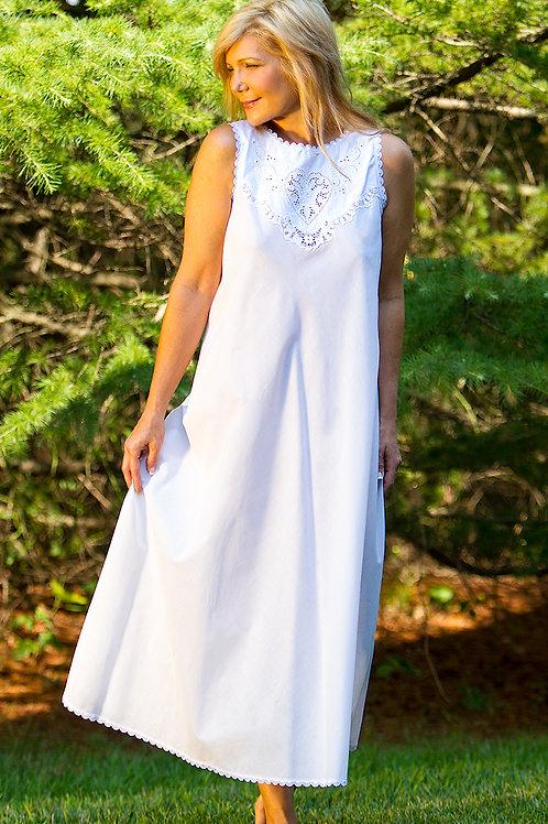 SZ1395 - Bias Long Gown - Woven Cotton Batiste