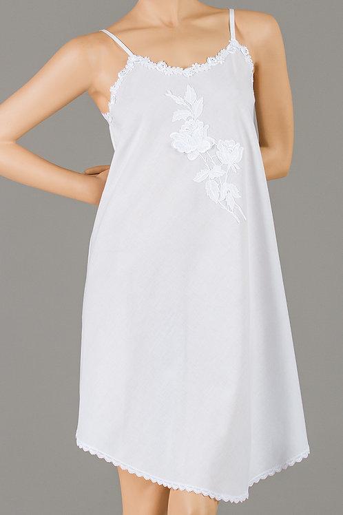 LP1405- Short Strap Gown - Woven Cotton Batiste