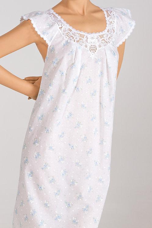 RM5965B- Short Gown w/ Flutter Sleeve