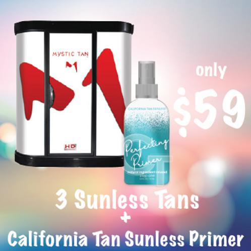3 Sunless Tans + California Tan Primer