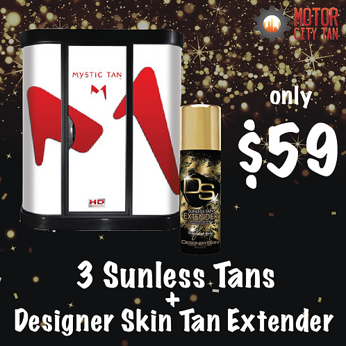 3 Sunless Tans + Tan Extender