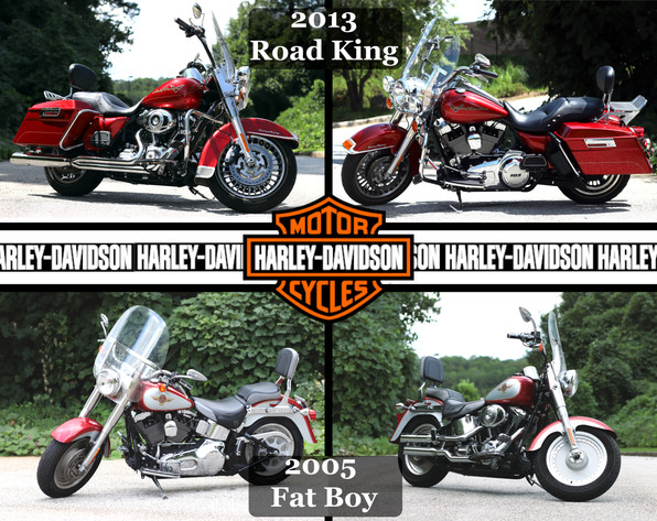 Harley Davidson Road King & Fat Boy.JPG