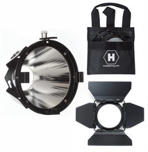 Flood Reflector Attachment, Barndoors and 3 Lens Set for CX Series