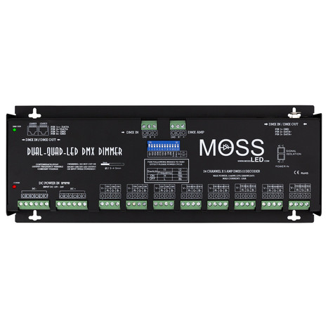Dual-Quad-LED DMX - 24 Channel Dimmer