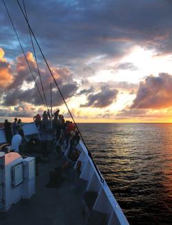 Sunset on voyage