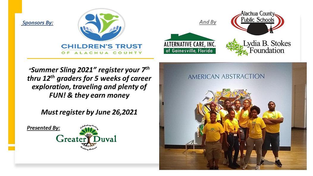 children trust Summer Sling flyer 4 spon