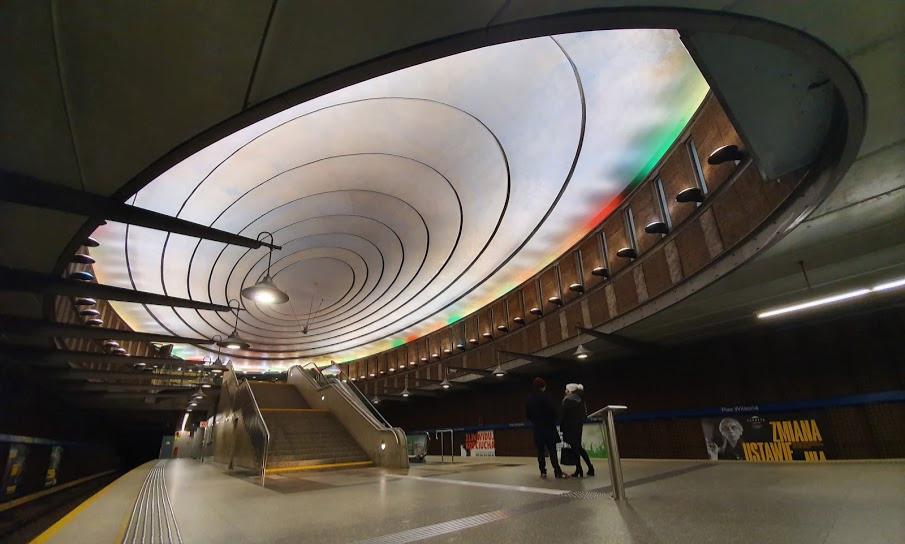הכניסה לרציף של תחנת פלאץ וילסונה