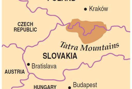 הפארק הלאומי טאטרה נפרש על 2 מדינות - פולין וסלובקיה