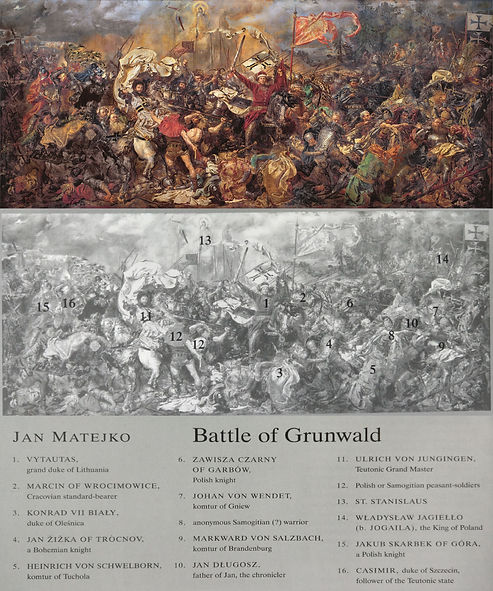 Matejko_Battle_of_Grunwald with explanat
