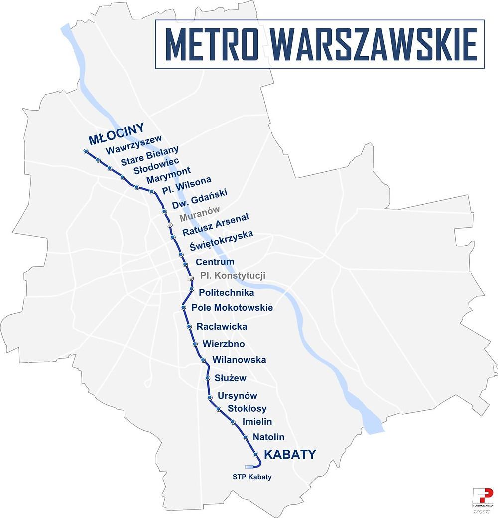 המטרו של ורשה - הקו הראשון