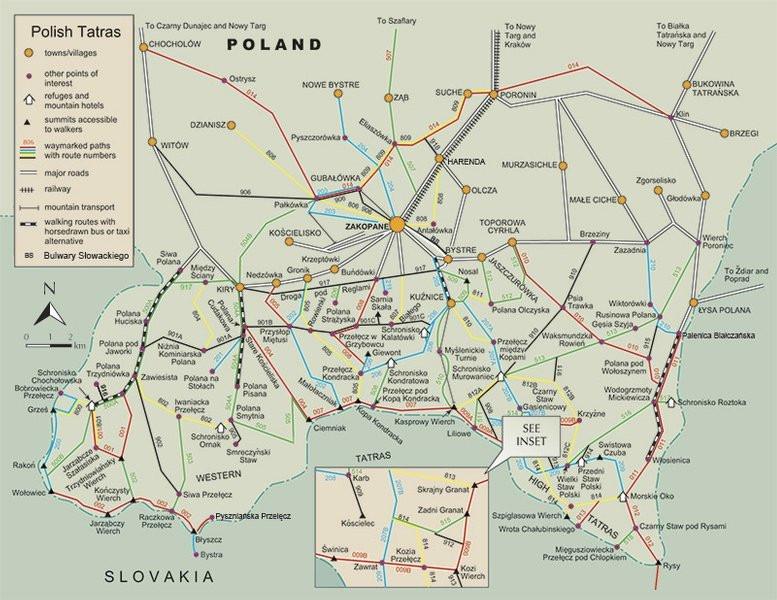 מסלולים בצד הפולני