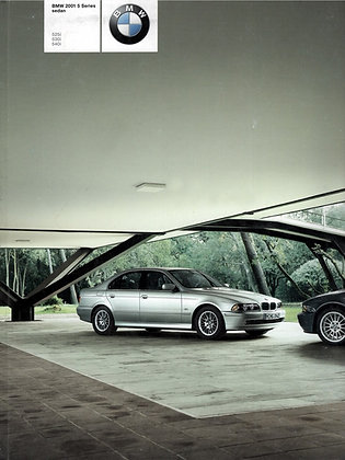 BMW E39 5 series dealership sales brochure vintage
