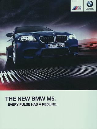 BMW F10 M5 dealership sales brochure