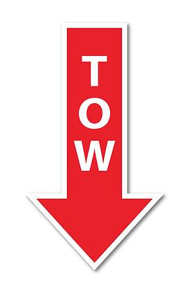 Tow Arrow Magnet