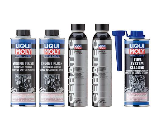 Liqui Moly engine flush, ceratec, fuel system cleaner
