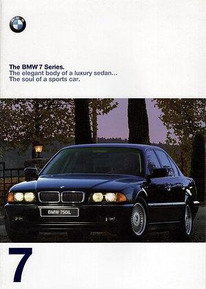 BMW e38 7 series dealership sales brochure paint codes