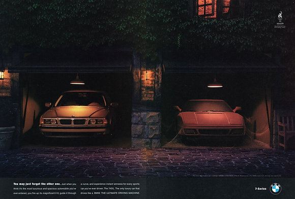 BMW E38 7 series magazine advertisement