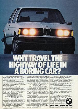 BMW E21 3 series vintage magazine advertisement