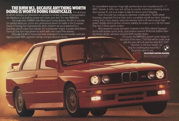 BMW E30 M3 vintage magazine advertisement