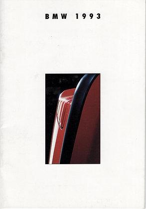 BMW 1993 Booklet