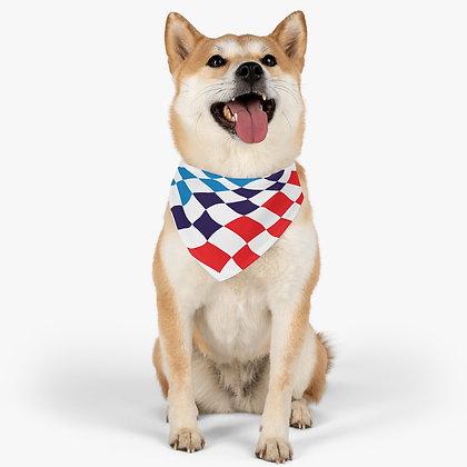 Motorsport Flag Pet Bandana Collar