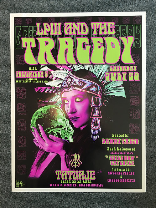 "Black Light ""Tatuaje"" Show Poster (18x24)"