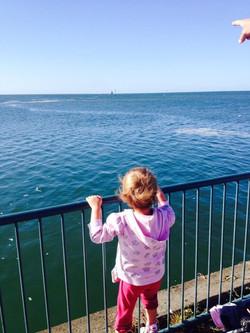 Waving goodbye to Nonda on the Spirit of Tasmania