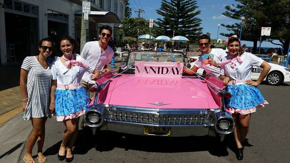 Pink Cadillac with VANIDAY