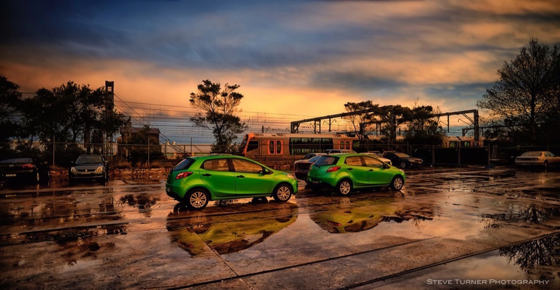 Urban scape green cars_STP4121 1.JPEG