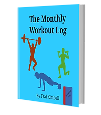 The Monthly Workout Log Available On Amazon
