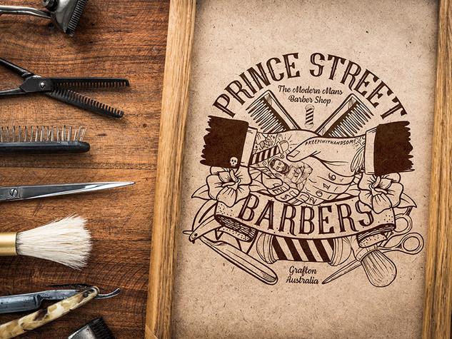 Prince Streert Barbers - Illustration Design