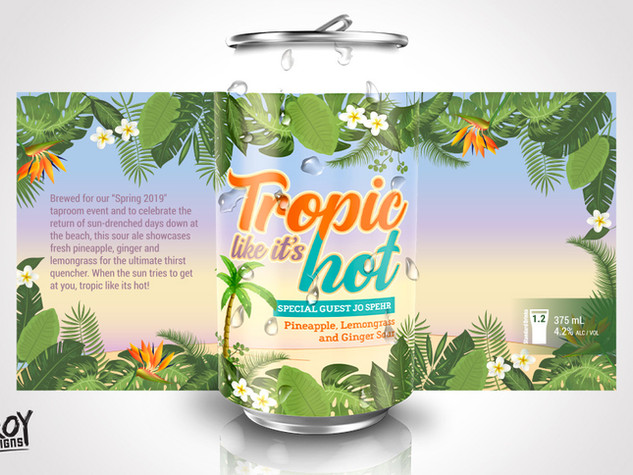 Black Hops Brewery - Tropic Like It's Hot Beer Can Design
