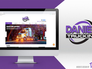 Daniel Trucking - rafton Website Design
