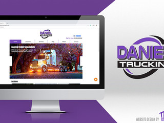 Daniel Trucking - rafton Website Design