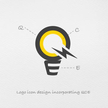 Q.C.E Logo Icon Process