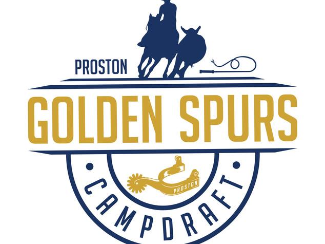 Proston Golden Spurs - Campdraft Logo Design