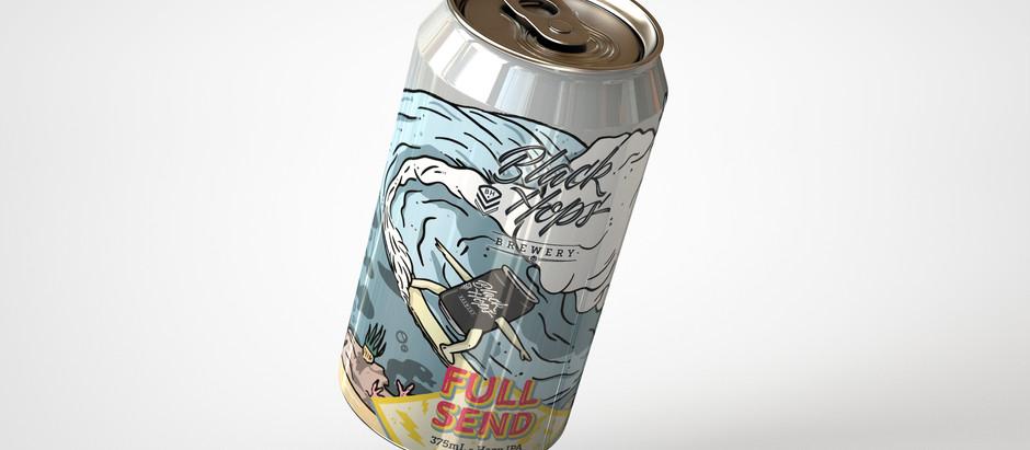 FULL SEND - Surf Illustration for Black Hops Brewery