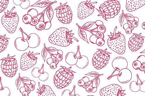 Vector hand-drawn fruit pattern