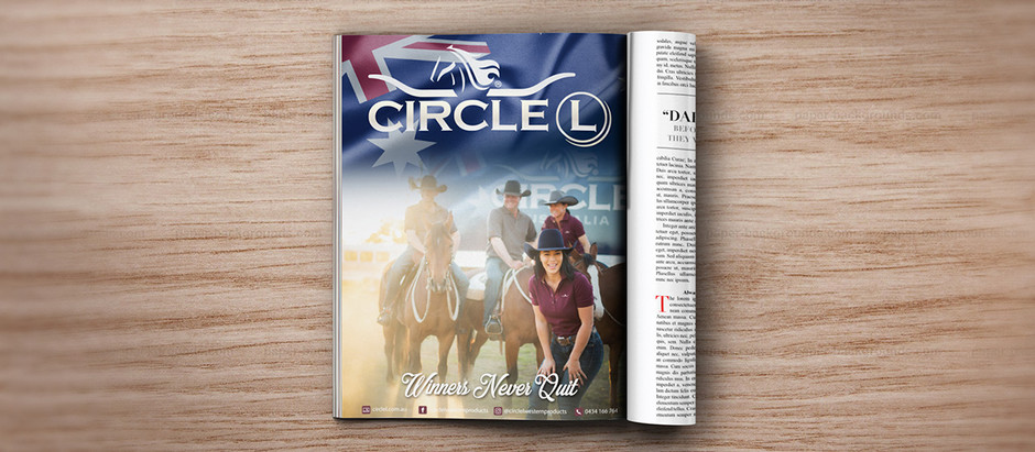 MAGAZINE AD DESIGN - Circle L Western Products