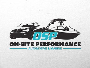 On-Site Performance Logo Design