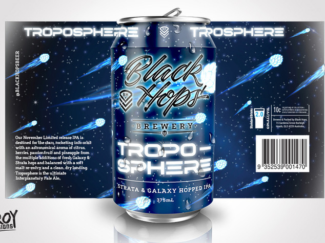 Black Hops Brewery - Troposphere Beer Can Design