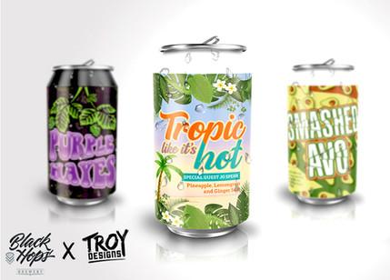 Black Hops Brewery - Beer Can Package Design