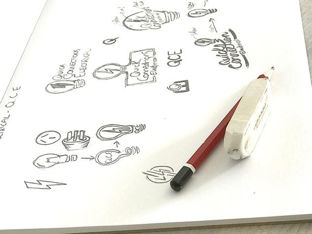 Troy Designs - Logo Design Sketching Process